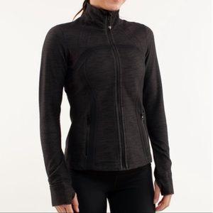Lululemon black slub denim define jacket